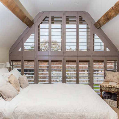 Shutters shaped to fit