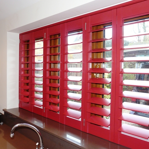 Red Shutters - a range of colours and finishes