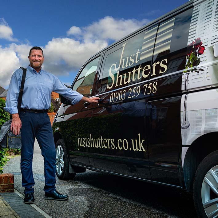 Just Shutters Van and Entrepreneur