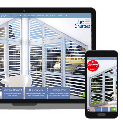 Why Just Shutters - Website